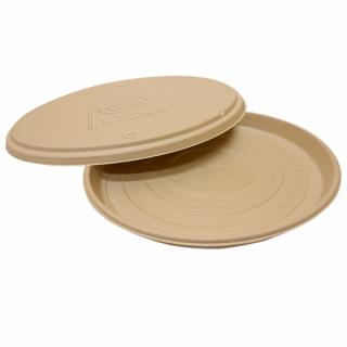 Coperchio Contenitore Pizza in Polpa di Cellulosa, Ø 36 Cm -Confezione 50 pezzi