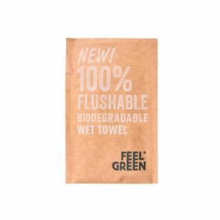 Salviette Flushable Kraft 6,8x10 Cm, 50gr -Confezione 300 pezzi