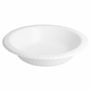 Piatto Fondo Tondo Cartoncino Bianco Ø 19 cm-Confezione 20 pezzi