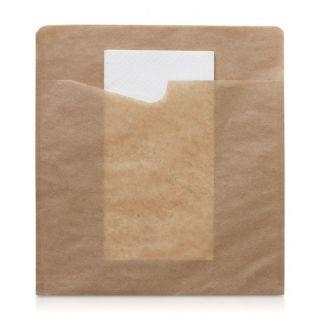 Sacchetto Snack Grande + Tovagliolo -Confezione 300 pezzi