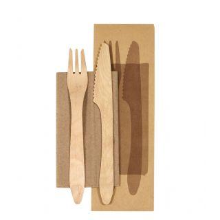 Bis posate in legno 16,5 cm - Confezione 250 pezzi