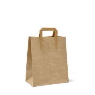Busta Shopper con Manici Piattina 19+8x23 Cm - Cartone 350 pezzi