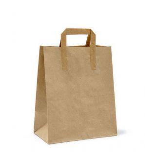 Busta Shopper con Manici Piattina 26+17x30 Cm - Cartone 200 pezzi