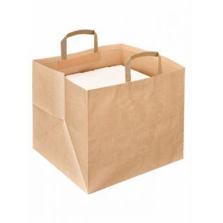 Busta Shopper Grande con Manici per Asporto Scatole Pizza -Confezione 125 pezzi