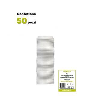 Coperchio in CPLA per bicchiere caffè 180-240-360 ml-Confezione 50 pezzi