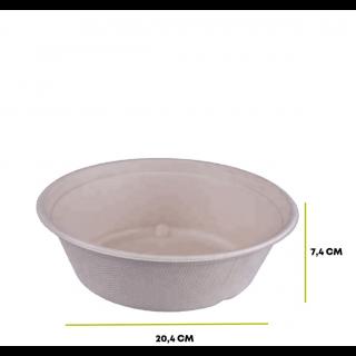 Ciotola Insalatiera in Polpa di Cellulosa 1200 ml - Confezione 125 pezzi