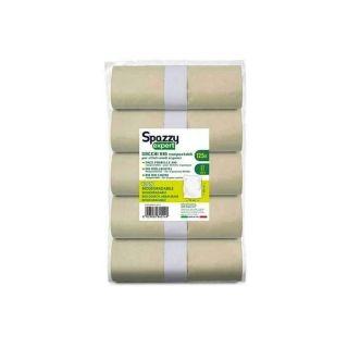 Sacchi a Rotoli Bio Compostabili 50x60 Cm - Confezione 5x30 Pezzi