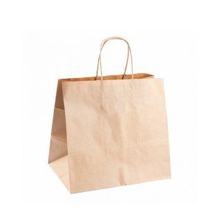 Busta Shopper con Manici in Corda 26+20x27 Cm -Confezione 250 pezzi