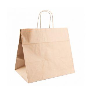 Busta Shopper con Manici in Corda 32+21x28,5 Cm -Confezione 250 pezzi