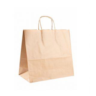 Busta Shopper con Manici in Corda 32+16x31 Cm -Confezione 250 pezzi