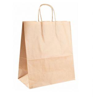Busta Shopper con Manici in Corda 32+16x43 Cm -Confezione 250 pezzi