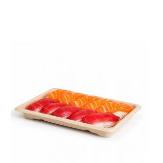 Vassoio sushi polpa di cellulosa, 18x13x2 cm - Confezione 125 pezzi